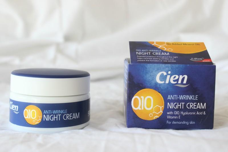 cien q10 anti wrinkle night cream review