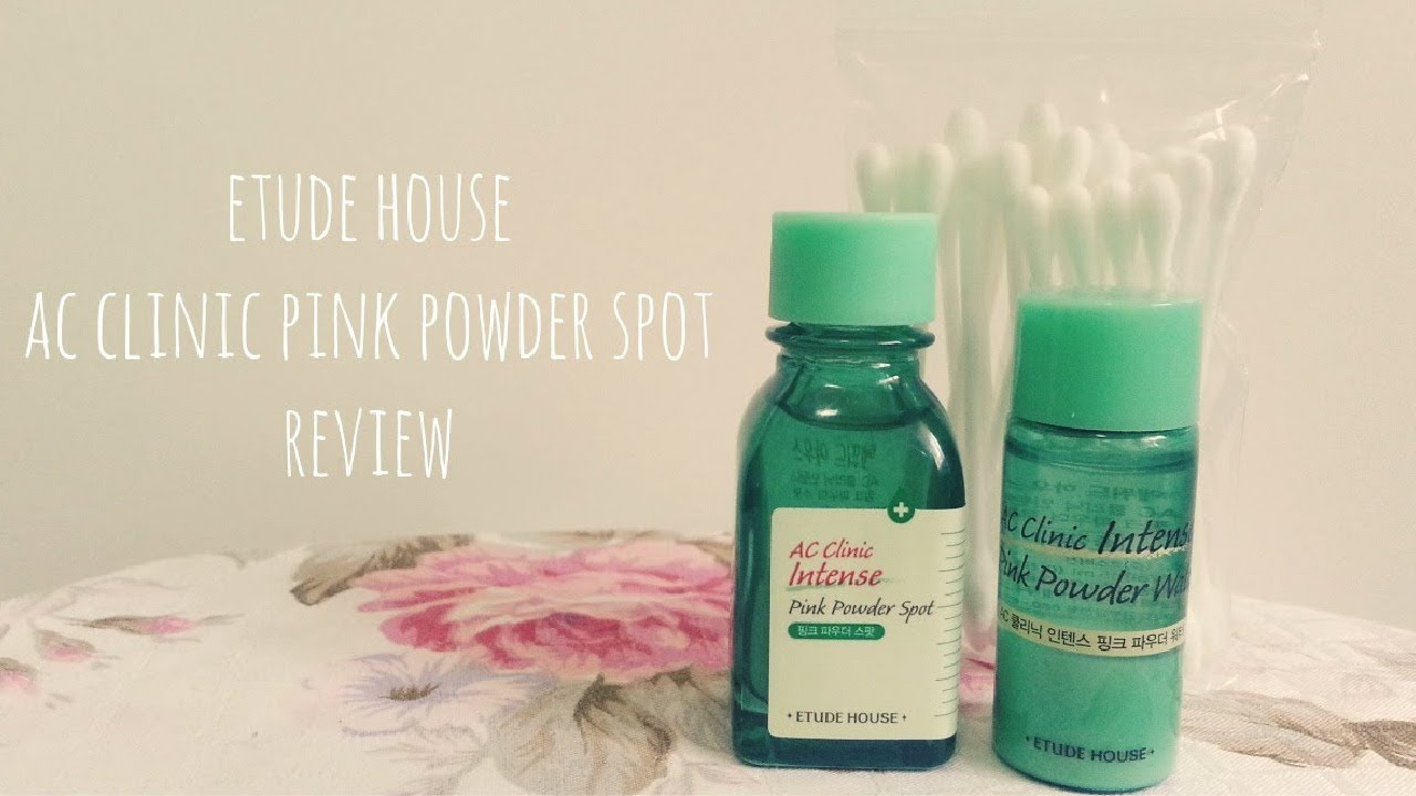 etude house ac clinic pink powder spot review