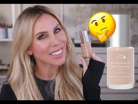 100 pure water foundation review