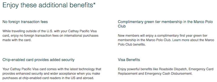 cathay pacific visa signature card review