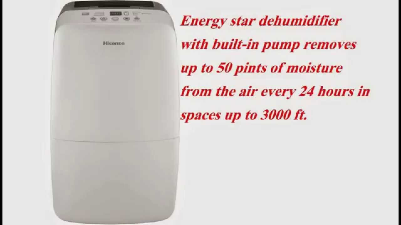 hisense 50 pint dehumidifier energy star review