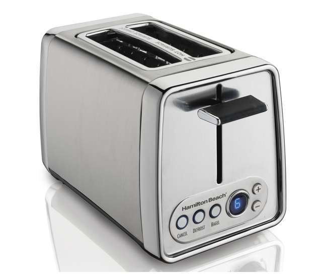 hamilton beach modern chrome toaster review