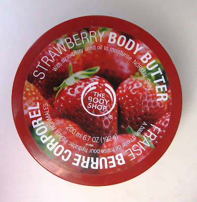 body shop strawberry body butter review