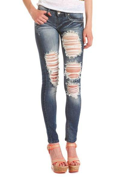 charlotte russe jean size review