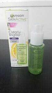 garnier clearly brighter overnight leave on peel reviews