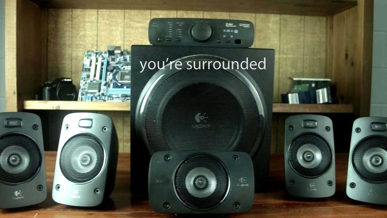 logitech z906 5.1 surround sound speakers review